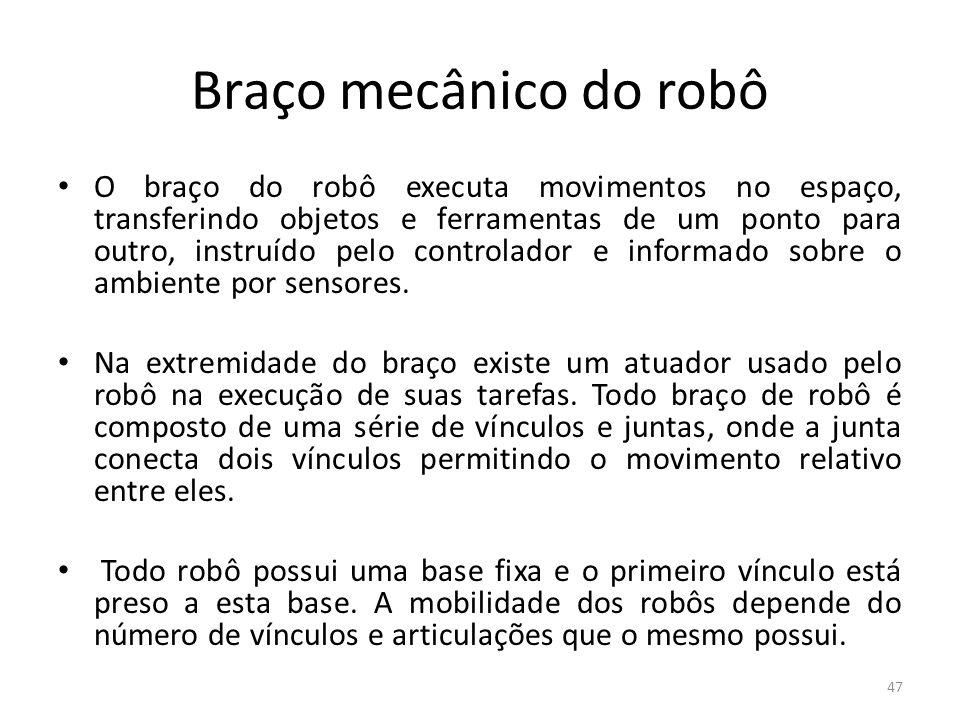 Braço mecânico do robô