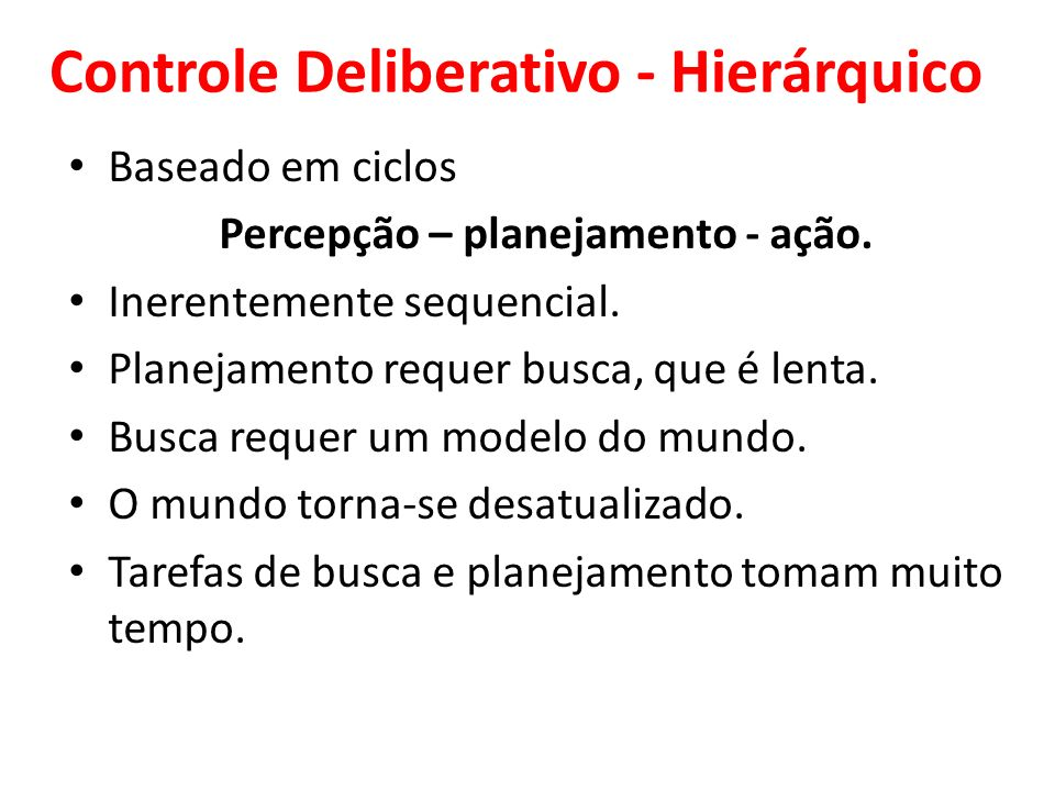 Controle Deliberativo - Hierárquico