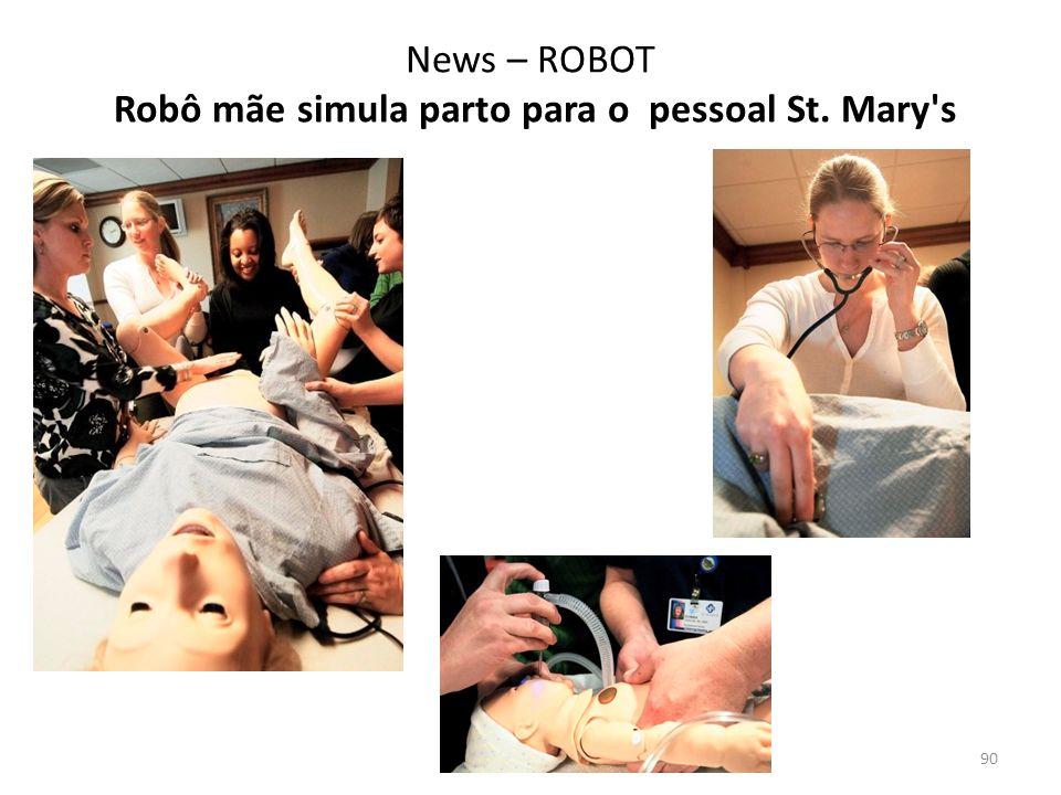 News – ROBOT Robô mãe simula parto para o pessoal St. Mary s