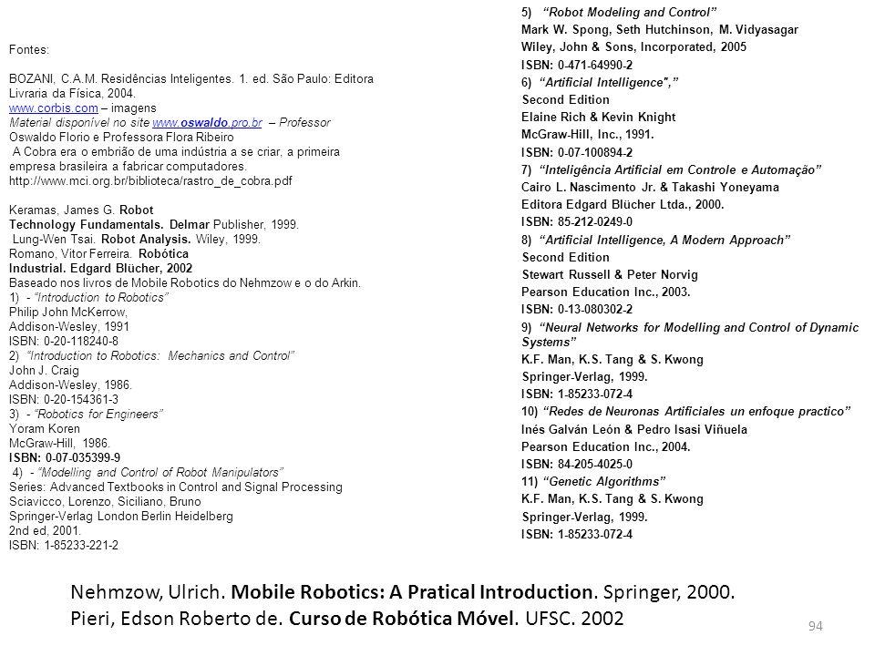Pieri, Edson Roberto de. Curso de Robótica Móvel. UFSC. 2002