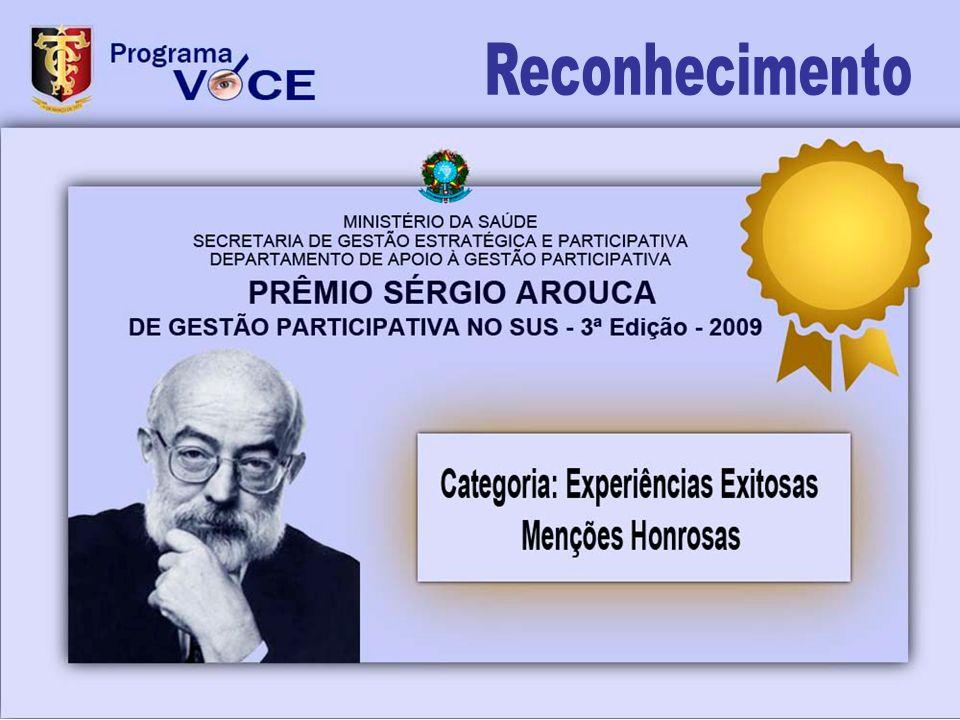 Reconhecimento O Prêmio Sérgio Arouca de Gestão Participativa no SUS tem por objetivo.