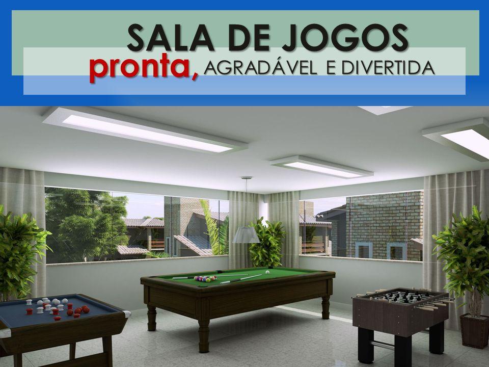 SALA DE JOGOS pronta, AGRADÁVEL E DIVERTIDA