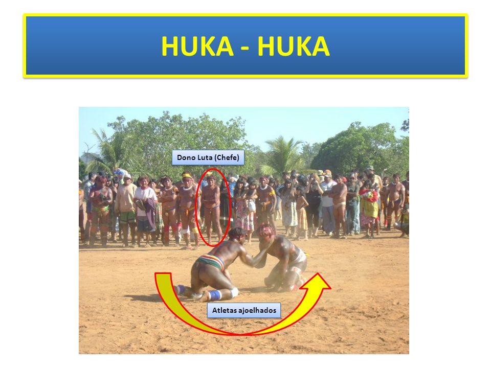 HUKA - HUKA Dono Luta (Chefe) Atletas ajoelhados