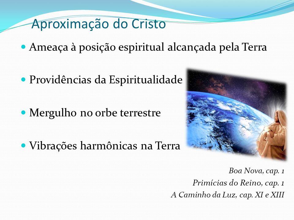 Aproximação do Cristo Ameaça à posição espiritual alcançada pela Terra