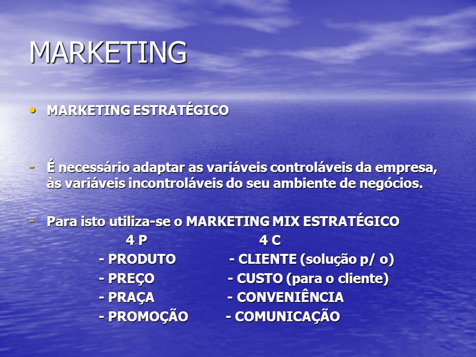 MARKETING MARKETING ESTRATÉGICO