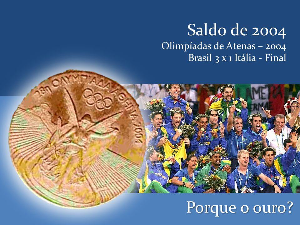 Saldo de 2004 Porque o ouro Olimpíadas de Atenas – 2004