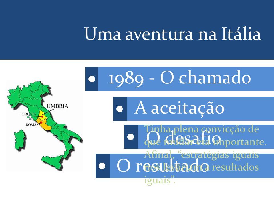 Uma aventura na Itália 1989 - O chamado A aceitação O desafio