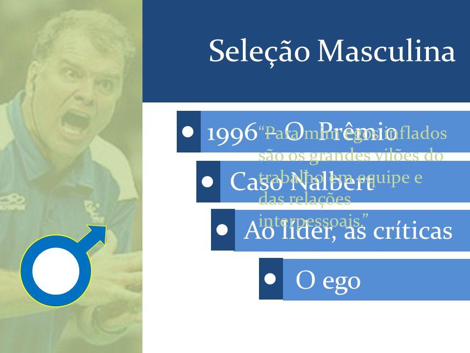 Seleção Masculina 1996 – O Prêmio Caso Nalbert Ao líder, as críticas