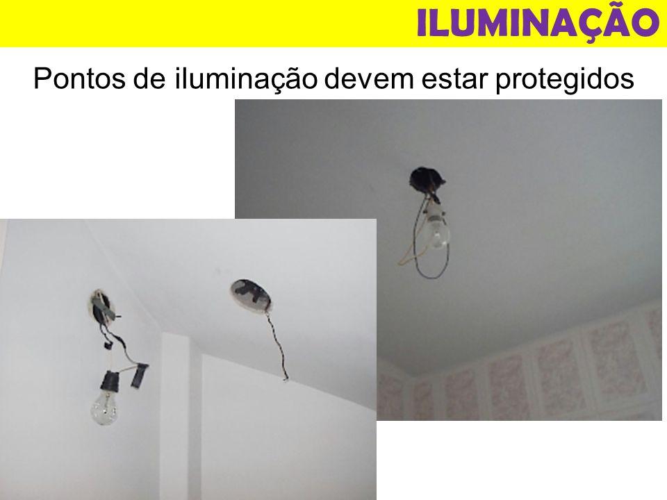 ILUMINAÇÃO Pontos de iluminação devem estar protegidos