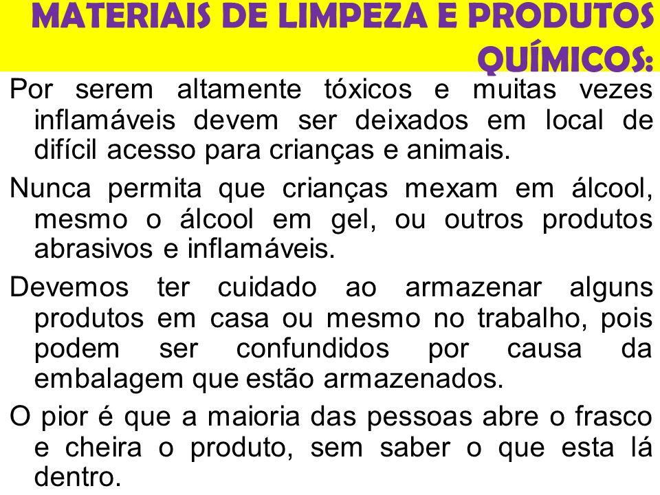MATERIAIS DE LIMPEZA E PRODUTOS QUÍMICOS: