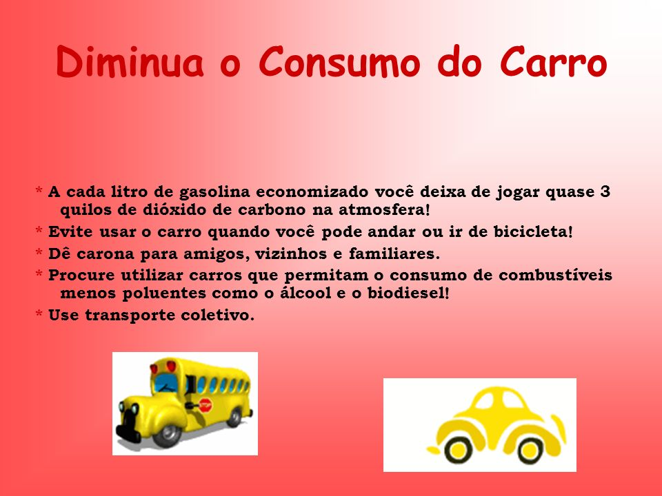 Diminua o Consumo do Carro