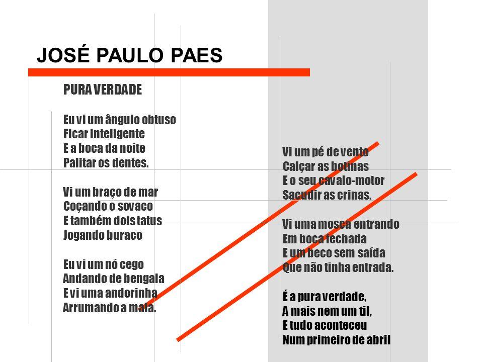 JOSÉ PAULO PAES PURA VERDADE