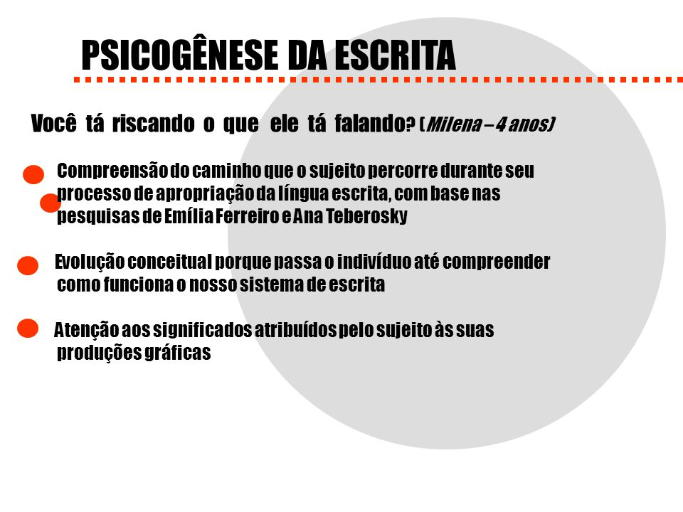 PSICOGÊNESE DA ESCRITA