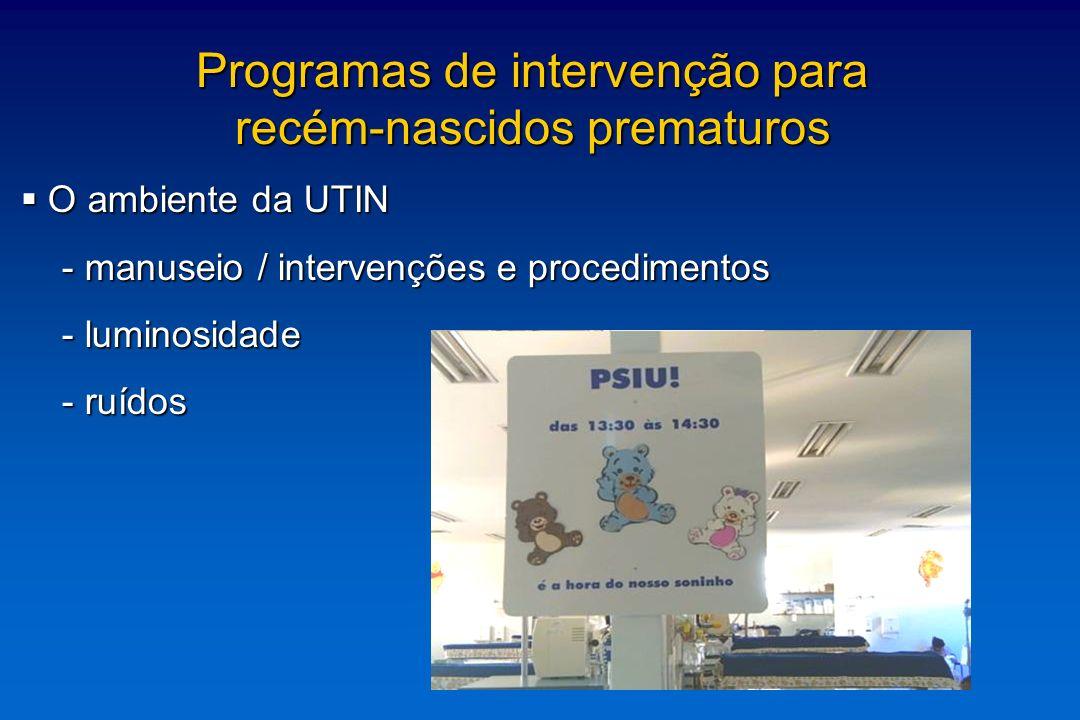 Programas de intervenção para recém-nascidos prematuros