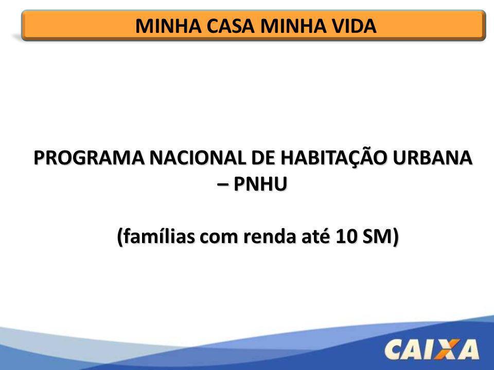 PROGRAMA NACIONAL DE HABITAÇÃO URBANA – PNHU