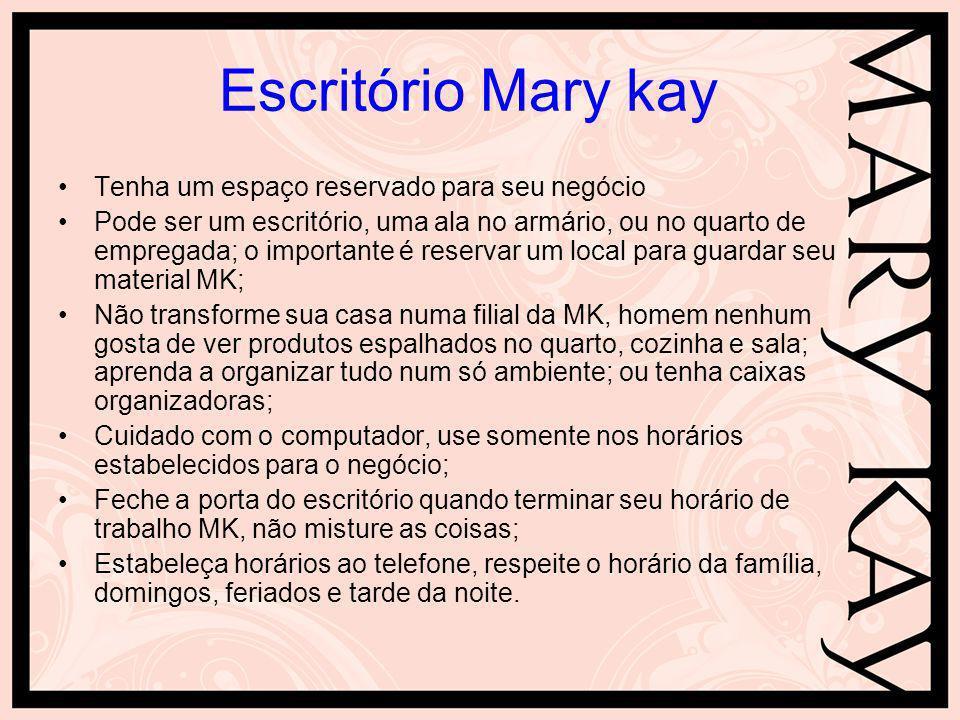 Escritório Mary kay Tenha um espaço reservado para seu negócio