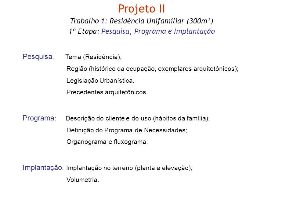 Projeto II Trabalho 1: Residência Unifamiliar (300m²)