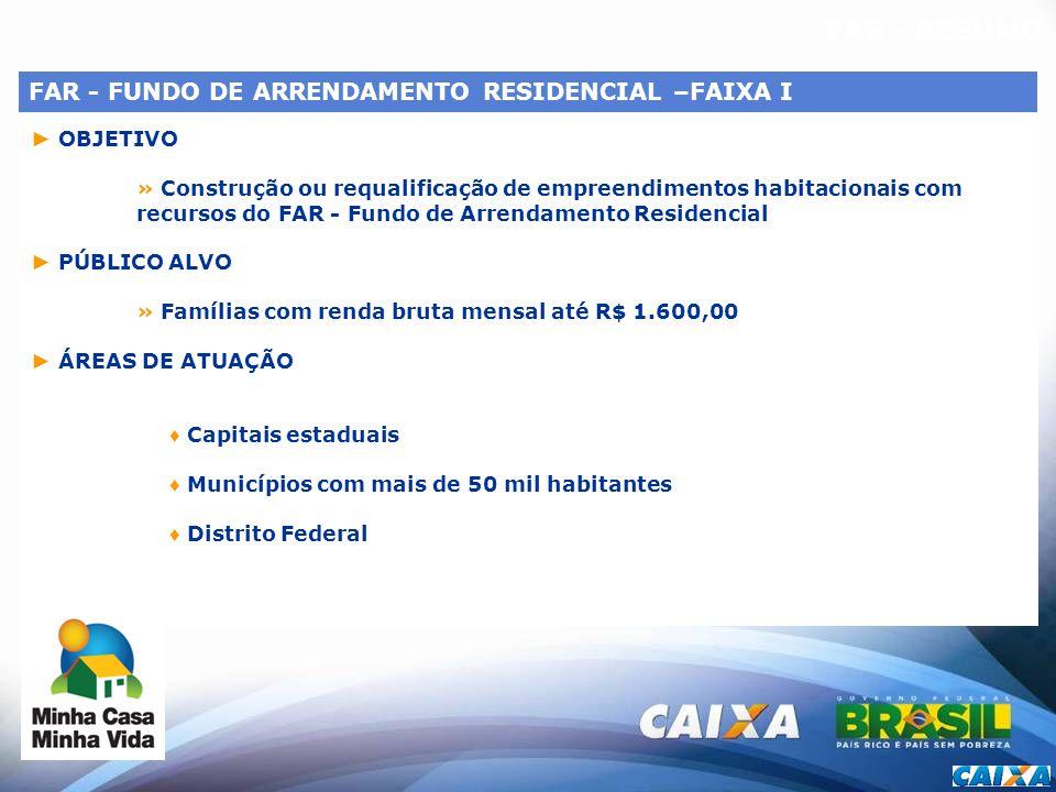 FAR - RESUMO FAR - FUNDO DE ARRENDAMENTO RESIDENCIAL –FAIXA I
