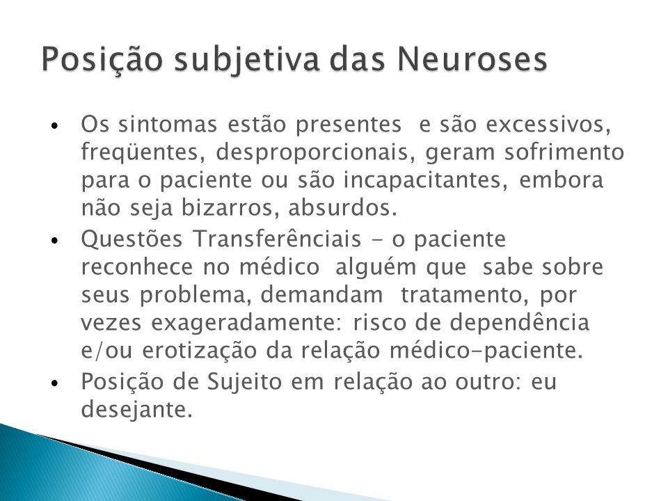 Posição subjetiva das Neuroses
