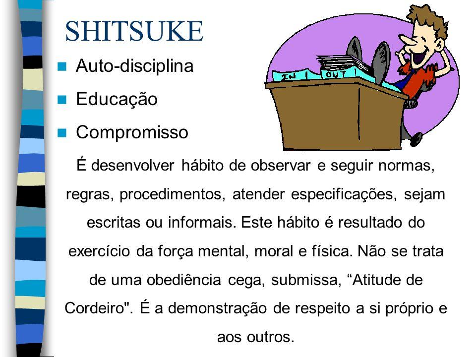 SHITSUKE Auto-disciplina Educação Compromisso