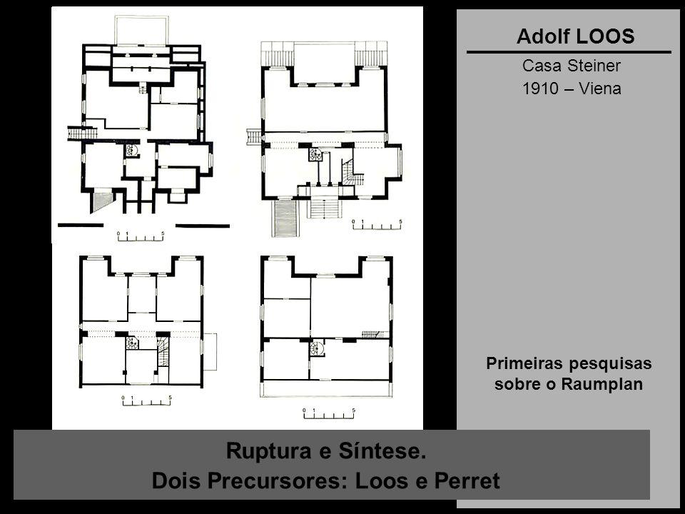 Primeiras pesquisas sobre o Raumplan Dois Precursores: Loos e Perret