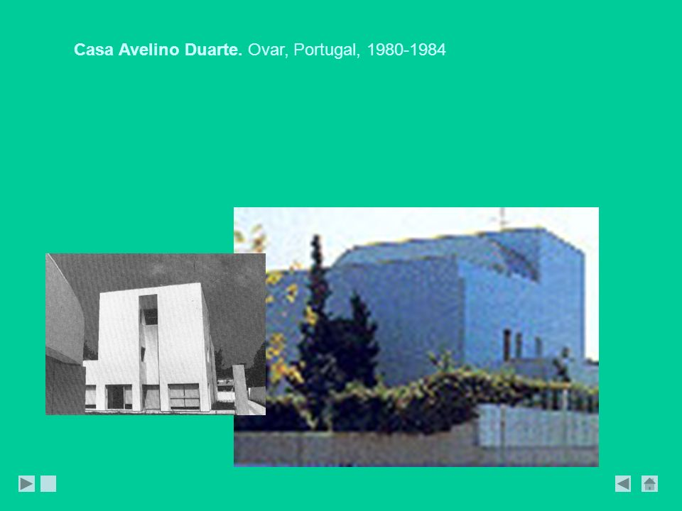 Casa Avelino Duarte. Ovar, Portugal, 1980-1984