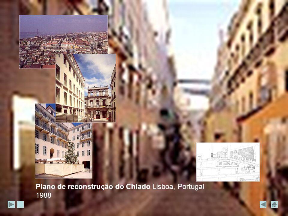 Plano de reconstrução do Chiado Lisboa, Portugal