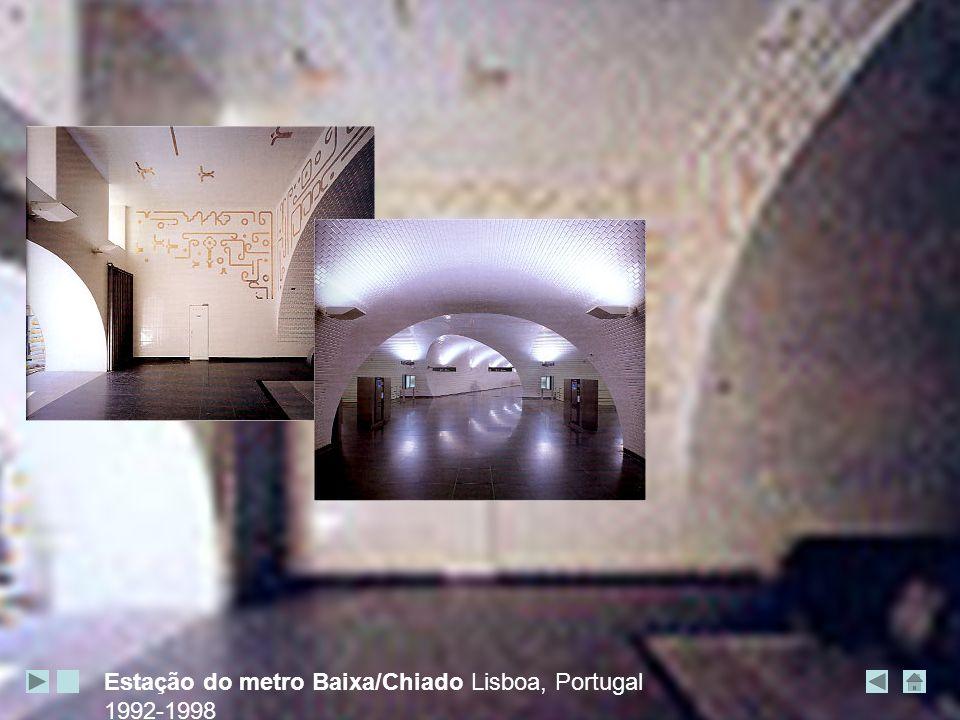 Estação do metro Baixa/Chiado Lisboa, Portugal