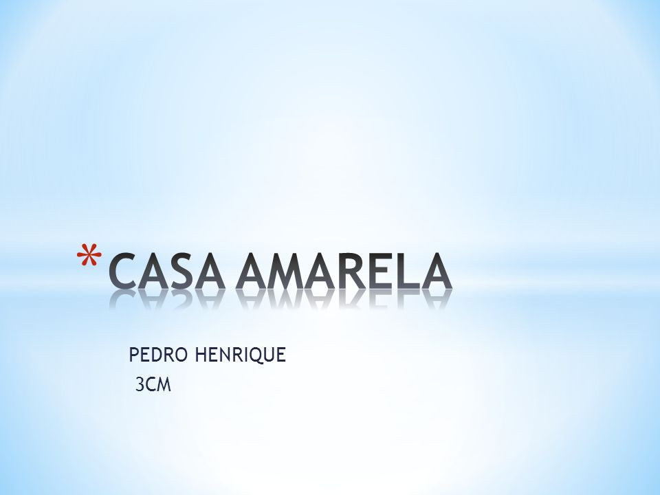 CASA AMARELA PEDRO HENRIQUE 3CM