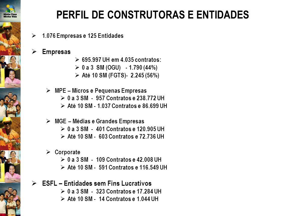 PERFIL DE CONSTRUTORAS E ENTIDADES