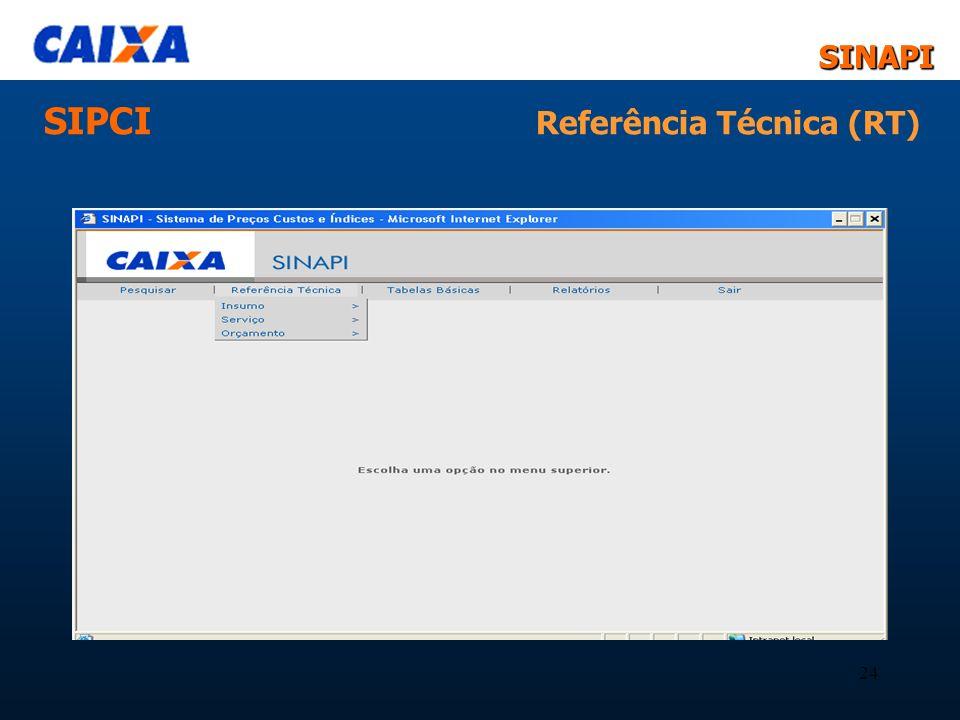 SIPCI Referência Técnica (RT)