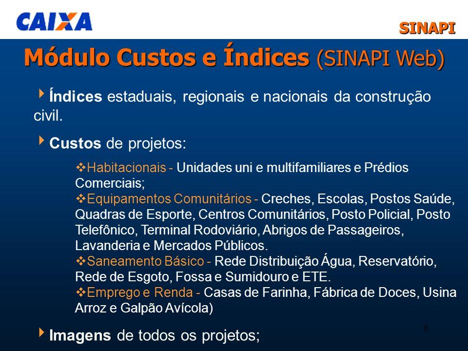 Módulo Custos e Índices (SINAPI Web)