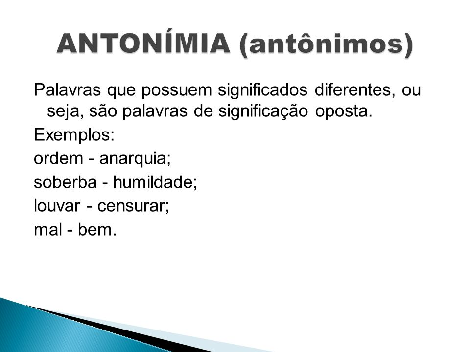 ANTONÍMIA (antônimos)
