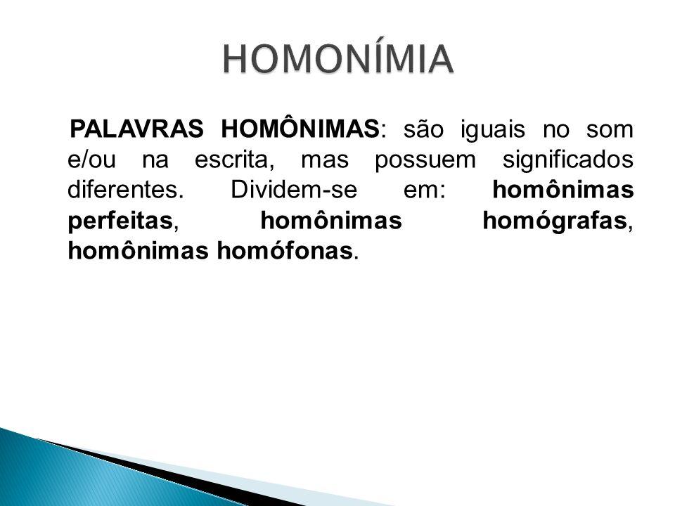 HOMONÍMIA
