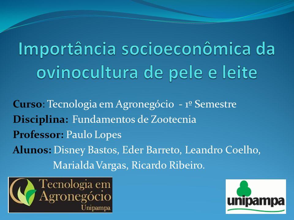 Importância socioeconômica da ovinocultura de pele e leite