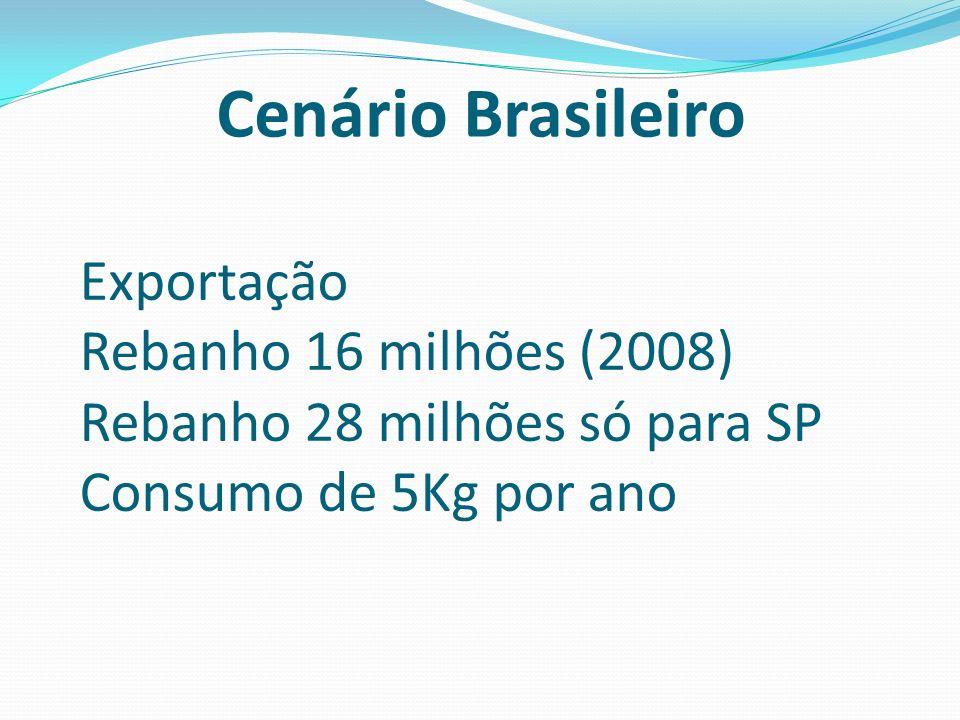 Cenário Brasileiro Exportação Rebanho 16 milhões (2008)