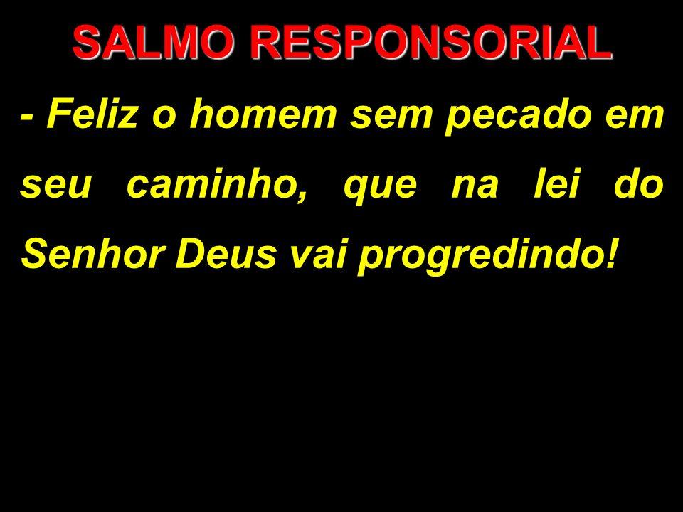 SALMO RESPONSORIAL - Feliz o homem sem pecado em seu caminho, que na lei do Senhor Deus vai progredindo!