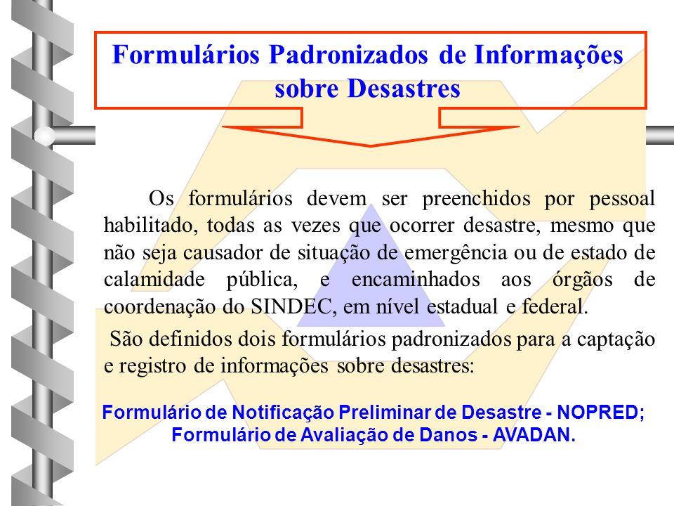 Formulários Padronizados de Informações sobre Desastres