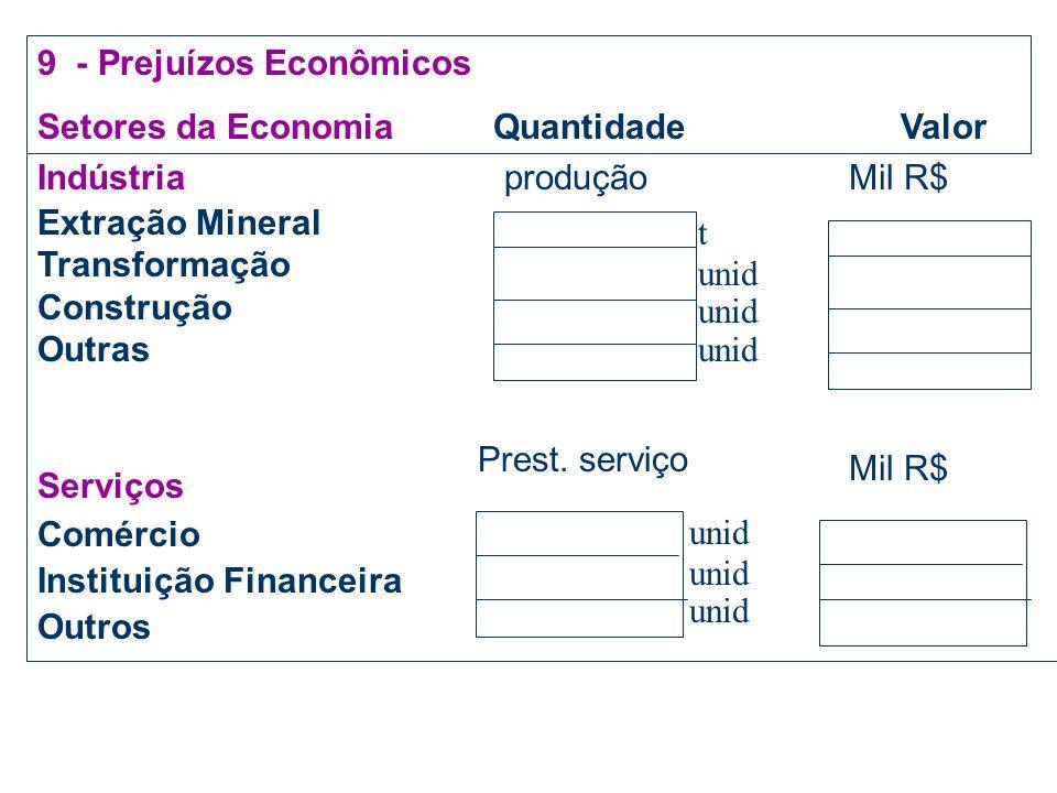 9 - Prejuízos Econômicos