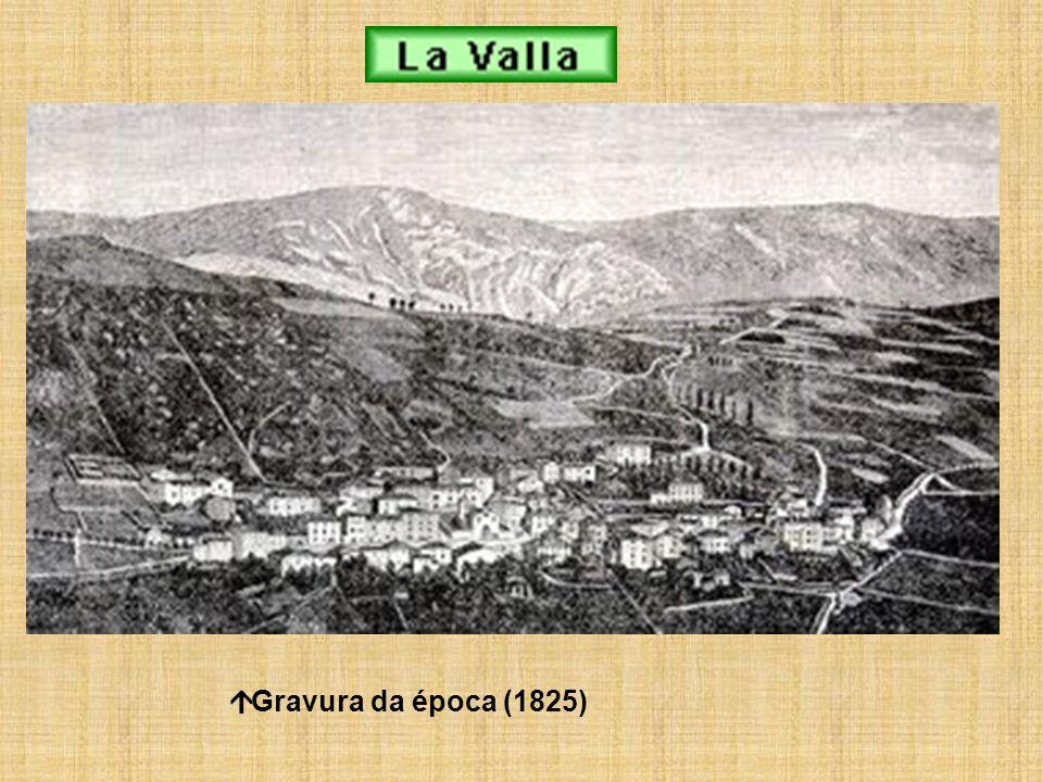 á Gravura da época (1825)