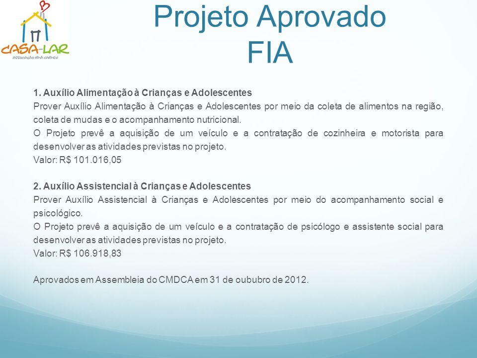 Projeto Aprovado FIA