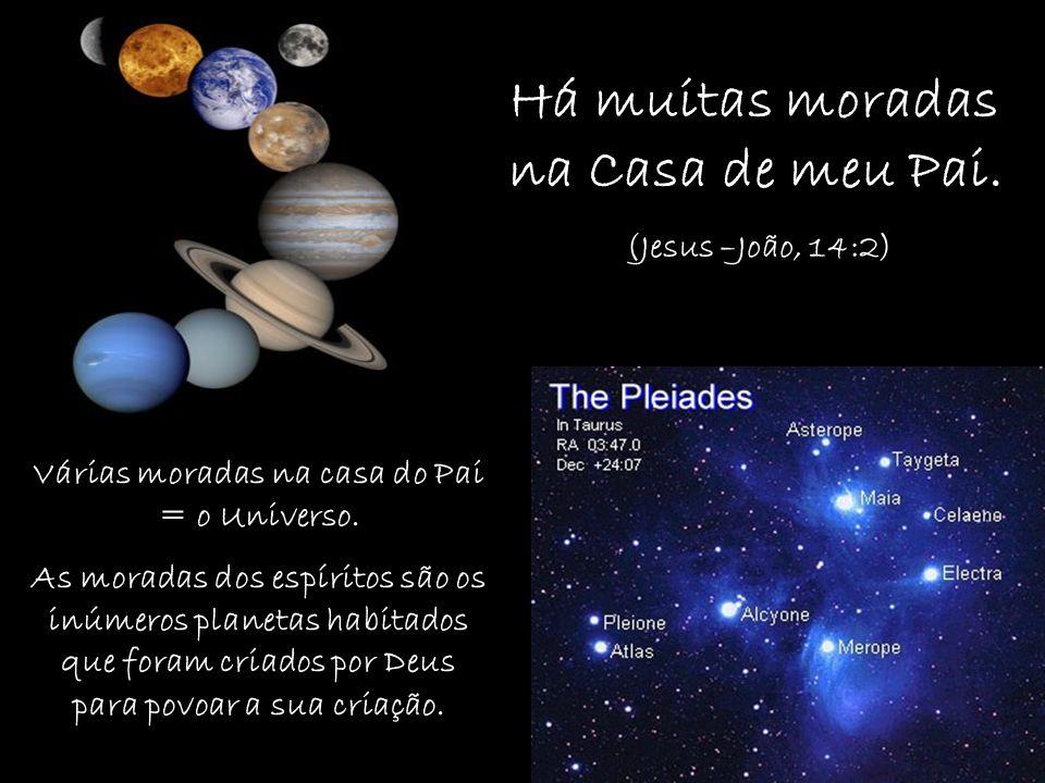 Várias moradas na casa do Pai = o Universo.