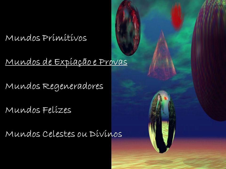Mundos Primitivos Mundos de Expiação e Provas. Mundos Regeneradores.