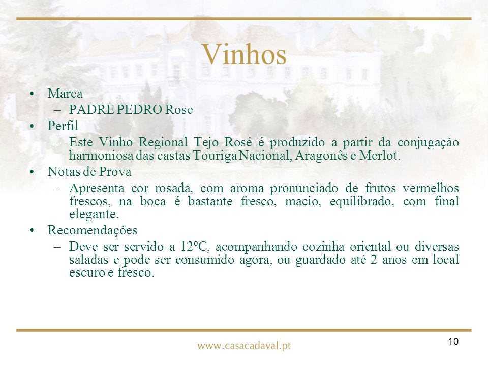 Vinhos Marca PADRE PEDRO Rose Perfil