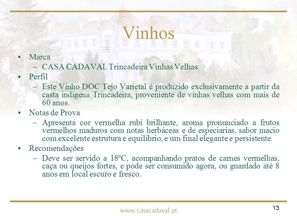 Vinhos Marca CASA CADAVAL Trincadeira Vinhas Velhas Perfil