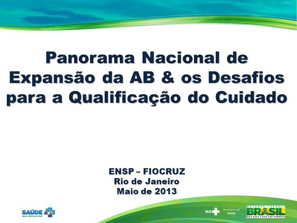 Panorama Nacional de Expansão da AB & os Desafios para a Qualificação do Cuidado