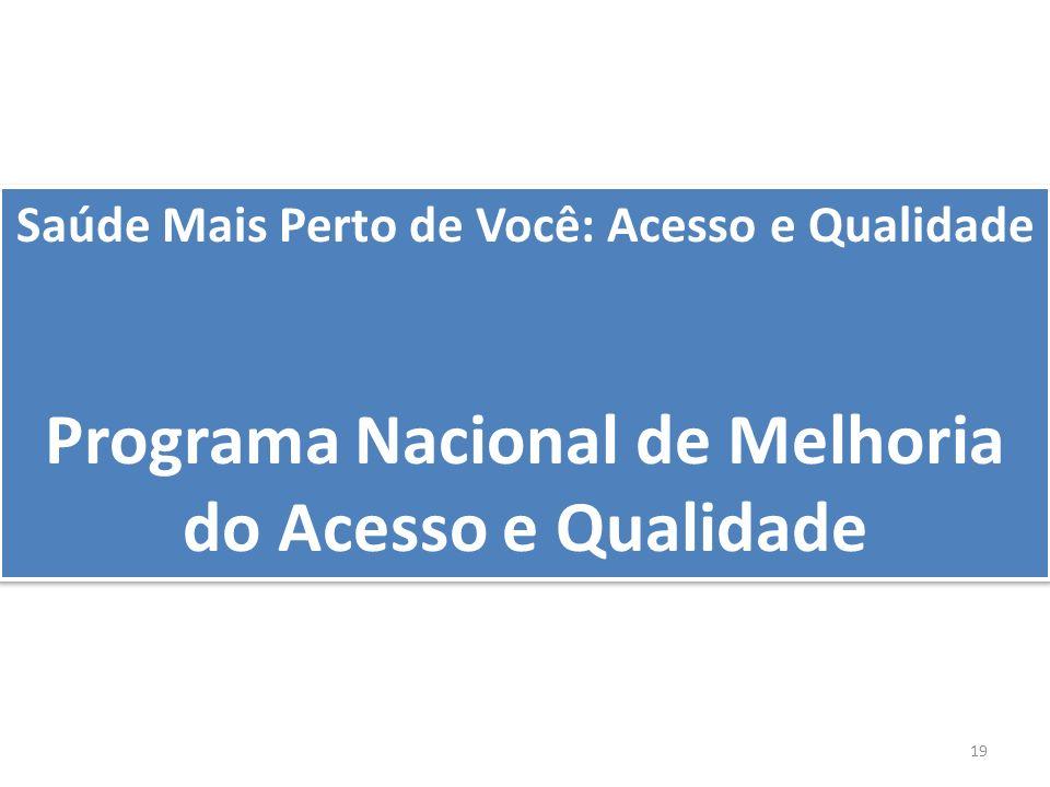 Programa Nacional de Melhoria do Acesso e Qualidade