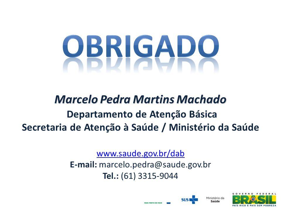 OBRIGADo Marcelo Pedra Martins Machado Departamento de Atenção Básica