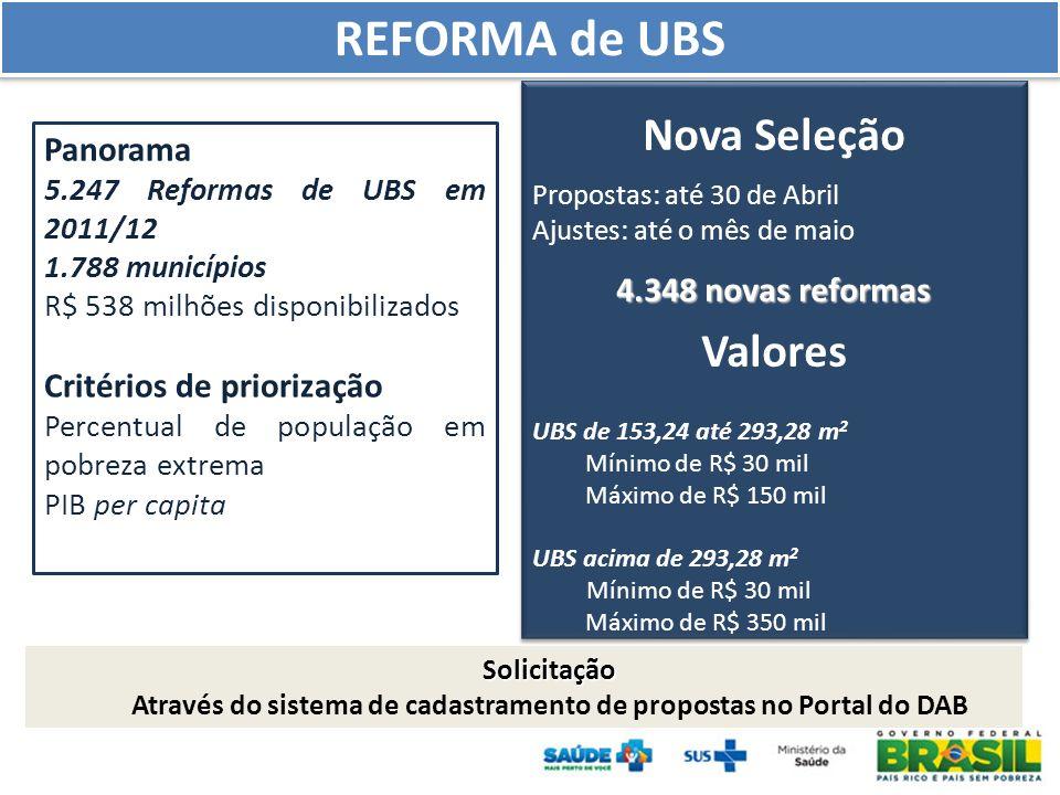 Através do sistema de cadastramento de propostas no Portal do DAB
