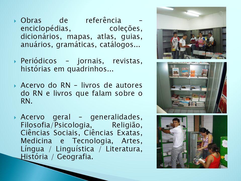 Obras de referência – enciclopédias, coleções, dicionários, mapas, atlas, guias, anuários, gramáticas, catálogos...